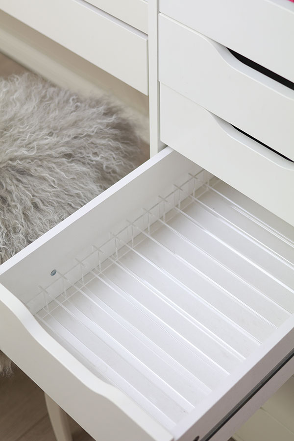 DIVIDERS FOR PALETTES Available in 2 sizes , for IKEA ALEX with 5 or 9  drawers Fits into one flat or deep drawer