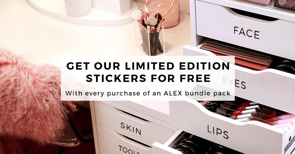 00_TidyUps acrylic makeup organizer - IKEA ALEX bundle packs - Sticker for free